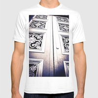 Don't Come A' Knockin' Mens Fitted Tee White SMALL