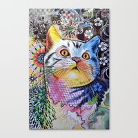 Chloe ... Abstract cat art Canvas Print