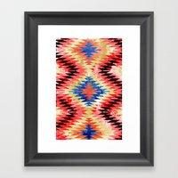 Painted Navajo Suns Framed Art Print