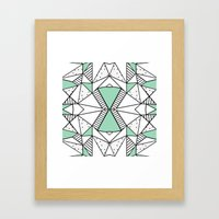 Ab Lines and Spots Mint Framed Art Print