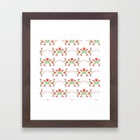 Small floral kitchen collection white Framed Art Print