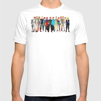 Gray Bowie Group Fashion Outfits Mens Fitted Tee White SMALL