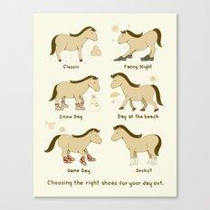 Horse Shoes Canvas Print