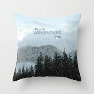 Adventure Begins Throw Pillow