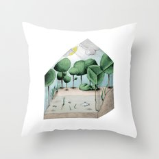Biosphere Home Farm Throw Pillow