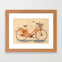 Love Holland, Love Bike Framed Art Print