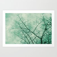 Tree In Green Art Print