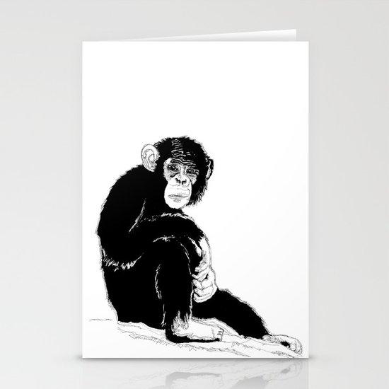 Monkey Stationery Card
