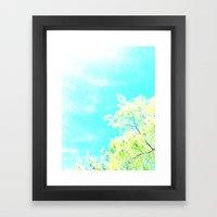 Bright Trees Against Blue Framed Art Print