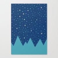 Stars And Peaks Canvas Print