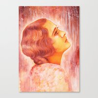 Heading for a fall (Vintage Portrait) Canvas Print