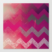 PINK Chevron Canvas Print