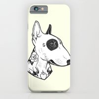 Bull Terrier Dog Tattooe… iPhone 6 Slim Case