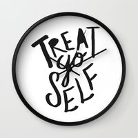 Treat Yo Self Wall Clock