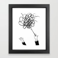 downbeat??  find my beat! Framed Art Print