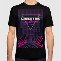 Libertee Synthwave Mens Fitted Tee Black SMALL