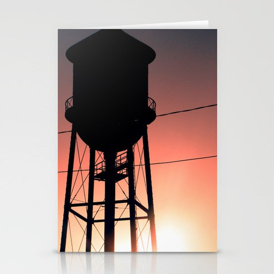 Water Tower Stationery Card