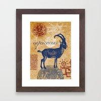 capricornus | steinbock Framed Art Print