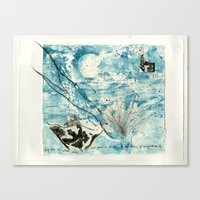 Mermaid of Zennor collagraph 2 Canvas Print