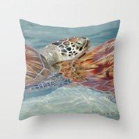 TurtleyTwins Throw Pillow