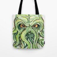 Tote Bag featuring Cthulhu by Olechka