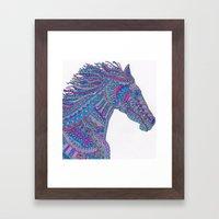 Technicolor Horse Framed Art Print