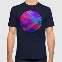 Colour Abstract Mens Fitted Tee Navy SMALL