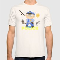 Police Mens Fitted Tee Natural SMALL