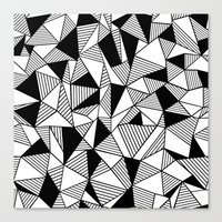 Ab Lines with Black Blocks Canvas Print