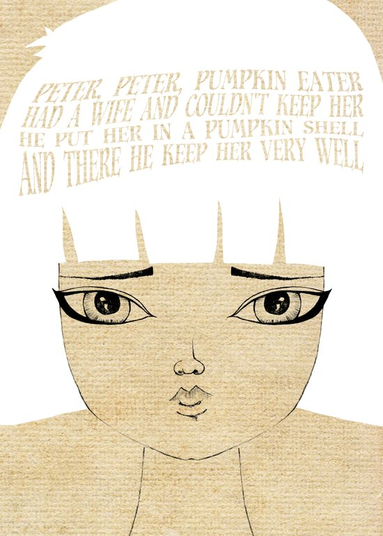 Kept Her Very Well - Lessons From Mother Goose Series Art Print