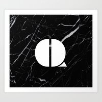 Black Marble - Alphabet … Art Print