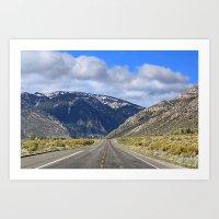 Hills Ahead Art Print