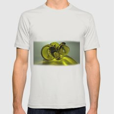 Yellow Knot Mens Fitted Tee Silver SMALL
