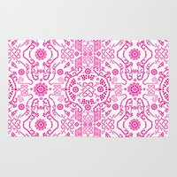 Hot Pink Lace Rug