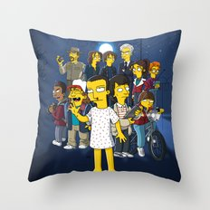 Simpsonized Things Throw Pillow
