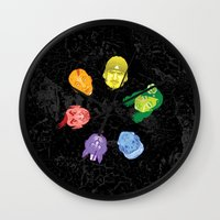 Colorheads Wall Clock