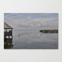 Outerbanks Bay Landscape Scene 2 Canvas Print