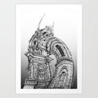 Exuberant Architecture Art Print