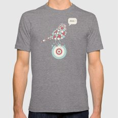 Bubble-Bird Mens Fitted Tee Tri-Grey SMALL