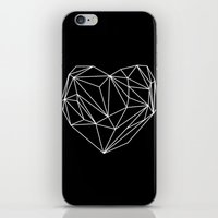 Heart Graphic (Black) iPhone & iPod Skin