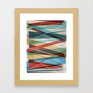 Geometric Prison Framed Art Print
