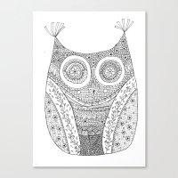 Owl Doodle art Canvas Print