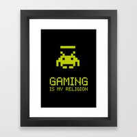 Gaming Is My Religion Framed Art Print