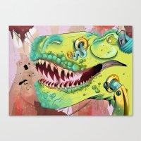 Sci-fi Dinosaur. Canvas Print