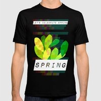 Celebrate Spring Mens Fitted Tee Black SMALL