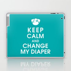 Keep Calm and Change My Diaper Laptop & iPad Skin