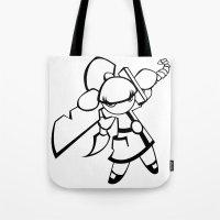 Kawaii Doll Samurai Tote Bag