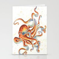 octopus Stationery Cards featuring Octopus by Patrizia Ambrosini