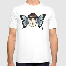butterfly lady. SMALL Mens Fitted Tee White