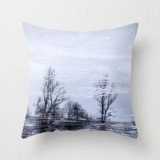 Tree mirror III Throw Pillow
